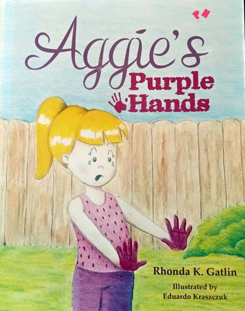 "Celia Shortt Goodyear/Boulder City Review Local author Rhonda K. Gatlin has written her second book, ""Aggie's Purple Hands,"" which was released Tuesday, Sept. 4."