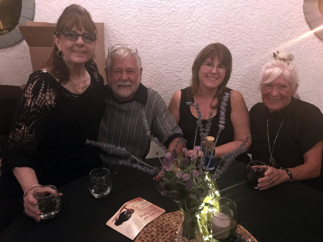 Hali Bernstein Saylor/Boulder City Review Among those attending the Boulder City Branch, American Association of University Women's semiannual chocolate and wine tasting Saturday, on the patio at ...