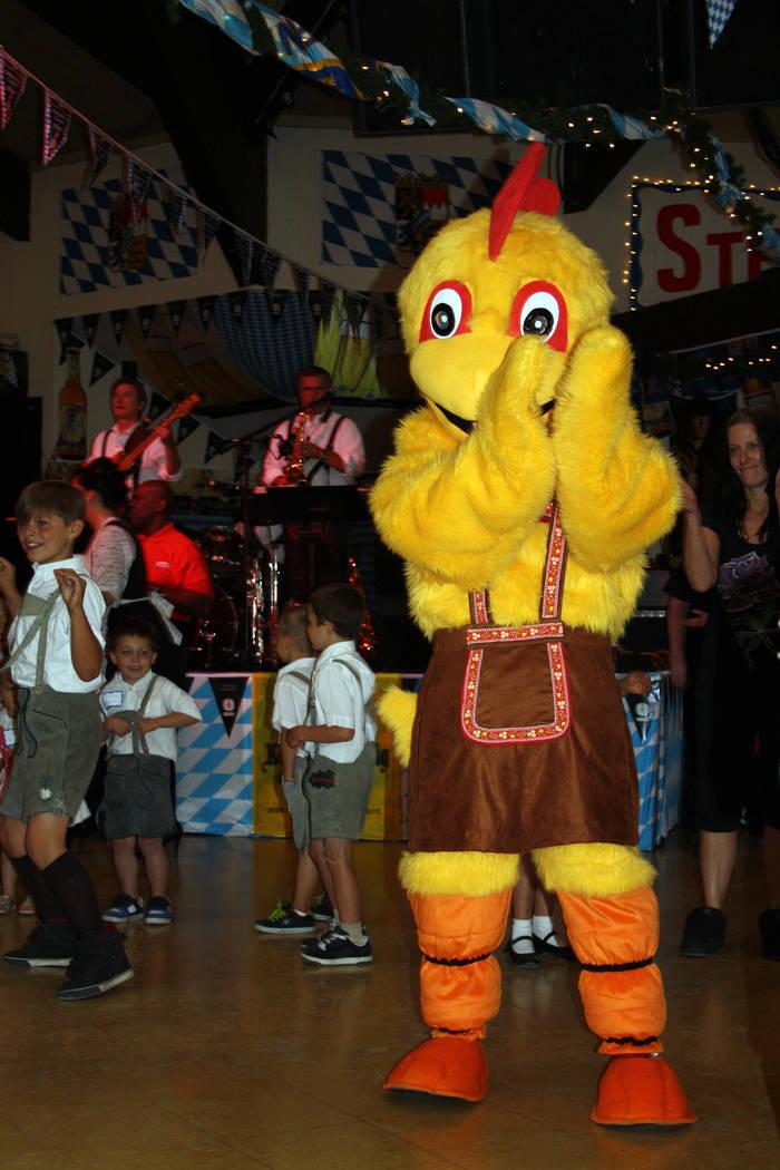"Deborah Wall The ""Chicken Dance"" is everyone's favorite during the Oktoberfest celebration at Big Bear Lake in California."