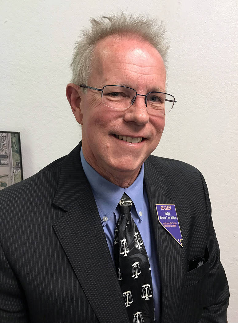 Hali Bernstein Saylor/Boulder City Review Judge Victor Miller is seeking re-election as Boulder City's justice of the peace.