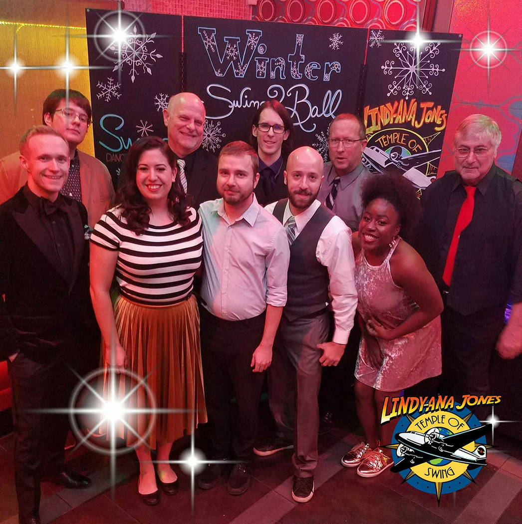 Lindy-ana Jones and the Temple of Swing will perform live music for an evening of swing dance Saturday, Oct. 6, at the Los Angeles Department of Water and Power building, 600 Nevada Way.