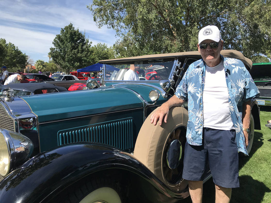 Hali Bernstein Saylor/Boulder City Review Bob Stafford of Henderson brought his 1929 Packard convertible to the Wurst Dam Car Show, part of the Wurst Festival presented by the Boulder City Sunrise ...
