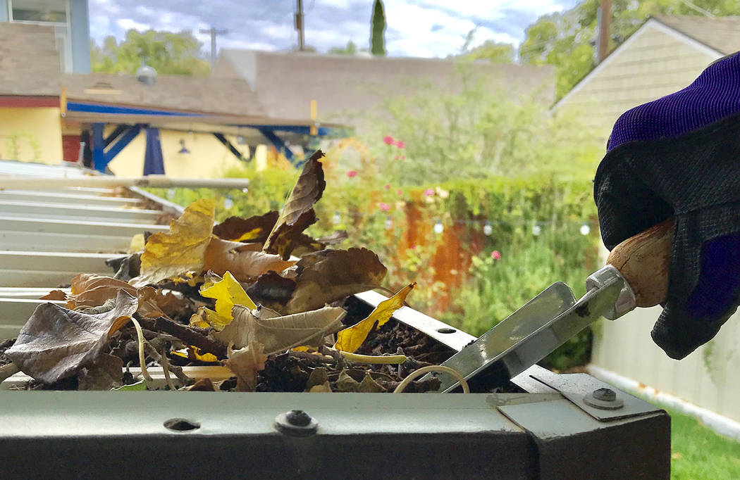 Norma Vally Before winter arrives, prepare gutters for rainwater by removing any leaves and debris that may have accumulated there.