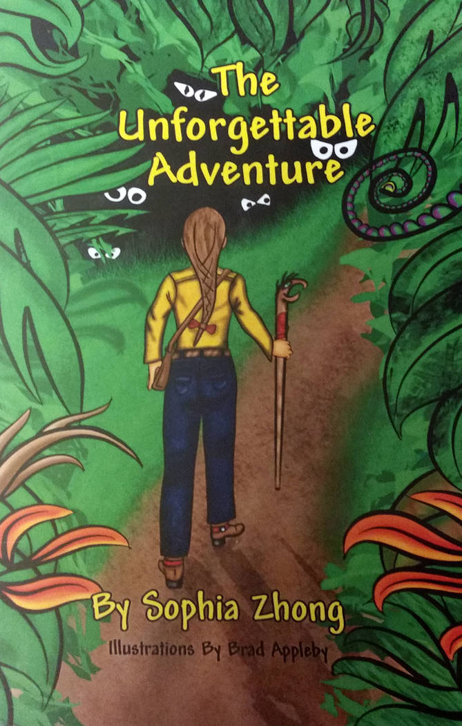 "Celia Shortt Goodyear/Boulder City Review Boulder City resident Brad Appleby illustrated the book, ""The Unforgettable Adventure,"" written by his 11-year-old goddaughter Sophia Zhong."