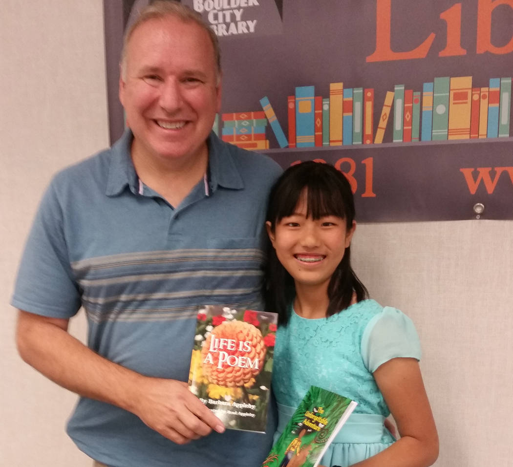 Celia Shortt Goodyear/Boulder City Review Boulder City resident Brad Appleby illustrated a book written by his goddaughter, Sophia Zhong, who is 11 years old and lives in Claremont, California.