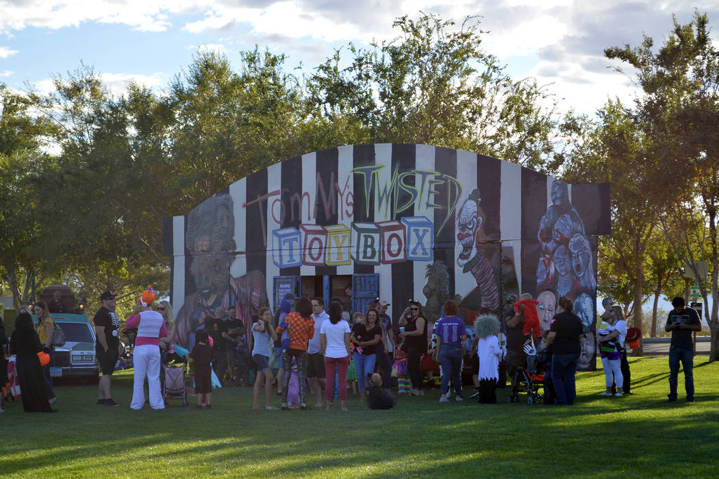Celia Shortt Goodyear/Boulder City Review A haunted house, Tommy's Twisted Toybox presented by Tom Devlin's Monster Museum, was a new addition to this year's Trunk or Treat at Veterans' Memorial P ...