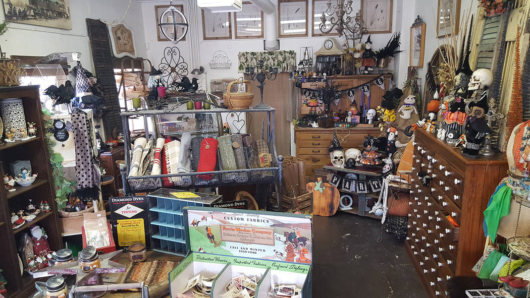 Dale Napier/Boulder City Review Back in Thyme Vintage Design opened at 1340 Wyoming St. offering crafty and seasonal decor among other things.