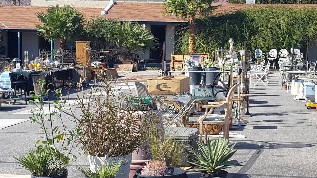 "Dale Napier/Boulder City Review Desert Inn on Nevada Way is holding an ""estate sale"" to sell all extraneous furnishings and personal items of owner Ishwar Patel as he prepares to sel ..."