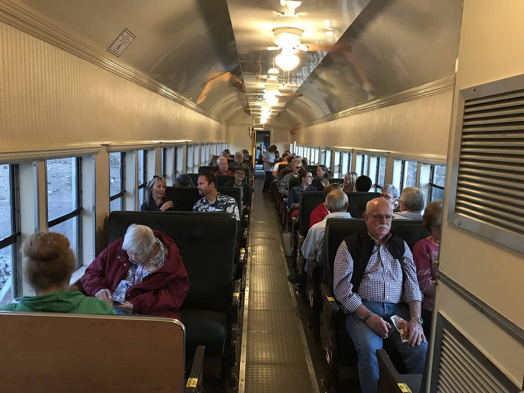 Hali Bernstein Saylor/Boulder City Review Rotary Club of Boulder City presented Brews and Choo-Choos on Friday, Oct. 19 which took passengers on a ride aboard the Nevada Southern Railway while off ...