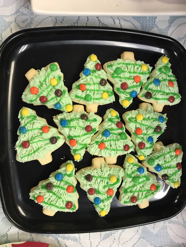 Hali Bernstein Saylor/Boulder City Review Wendy Krumm's fluffy Christmas tree cookies tied for first place in this year's Boulder City Review Christmas Cookie Contest.