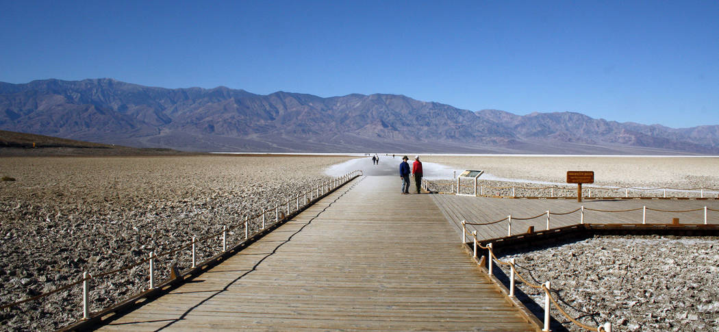 (Deborah Wall) Badwater Basin in Death Valley National Park is at 282 feet below sea level.
