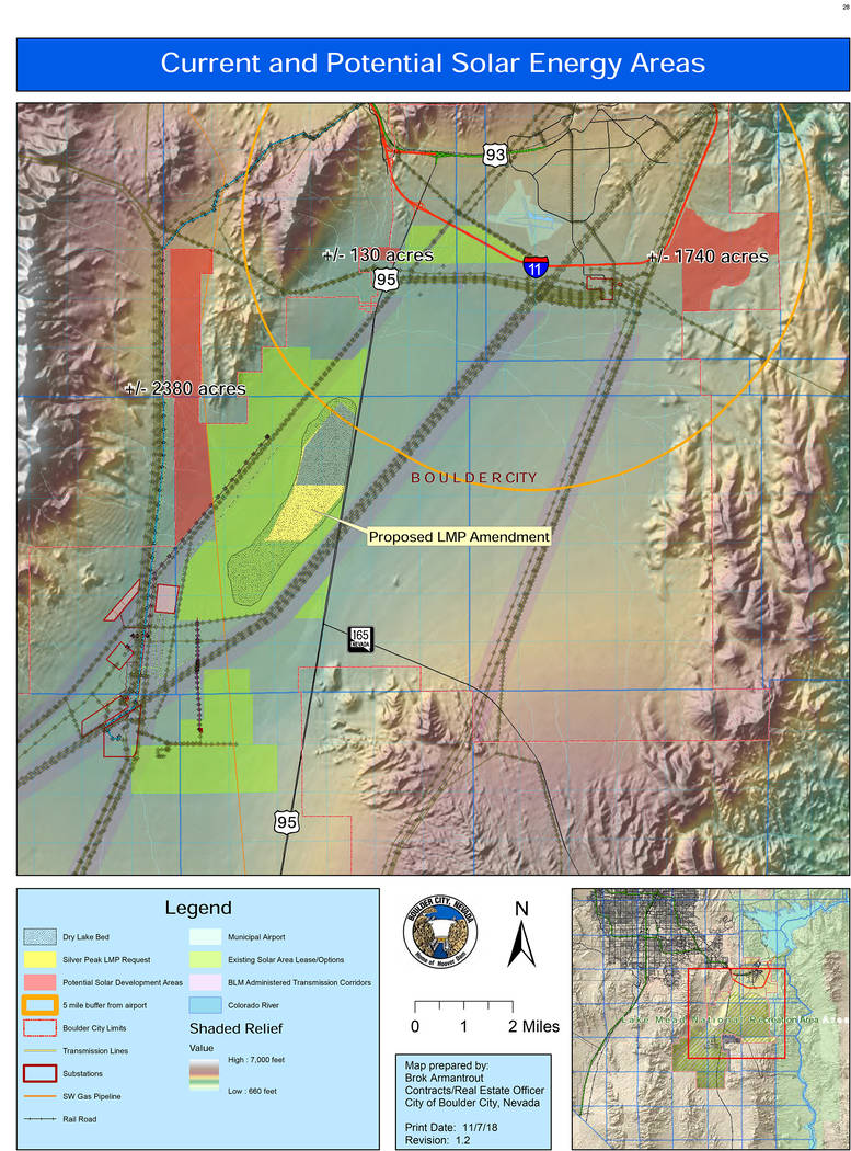 Boulder City The Boulder City Planning Commission is not recommending City Council adds 667 acres of the dry lake bed to the land management plan for solar use.
