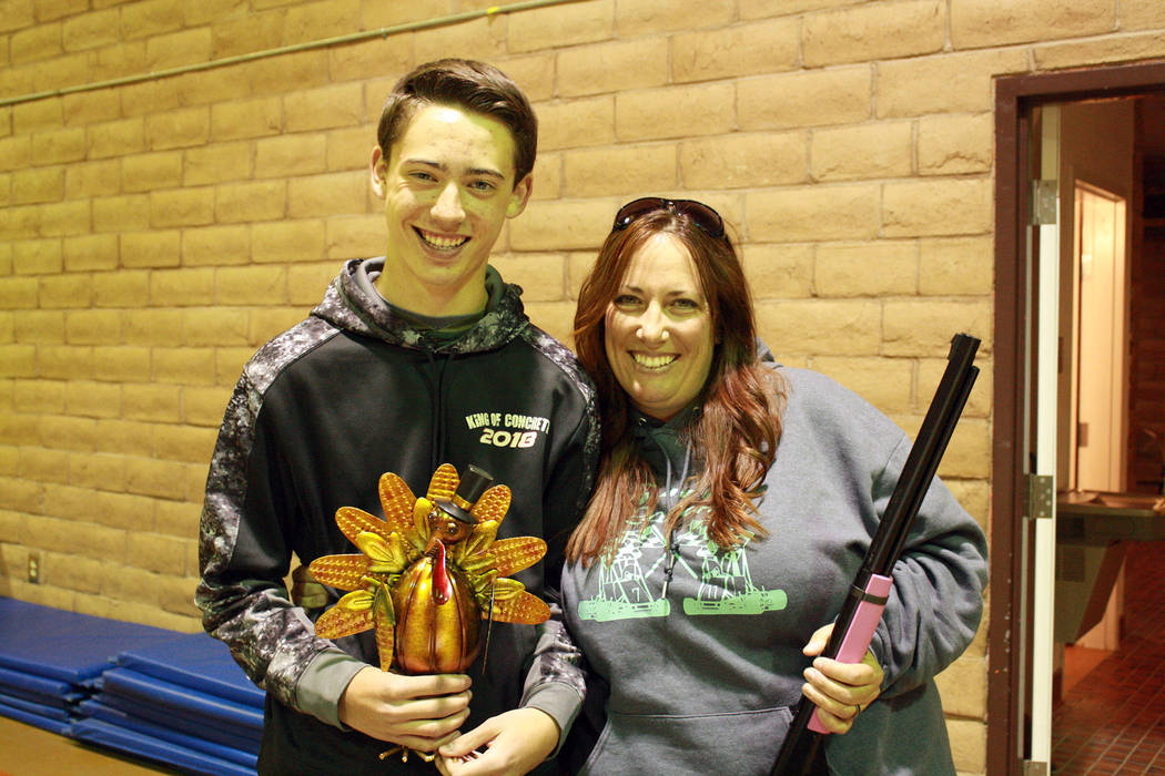 Boulder City Kim and Case Greene were winners of the adult and high school turkey shoot divisions in this year's competition.