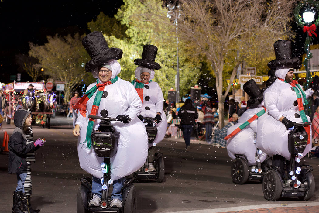 Santa's Electric Night Parade returns to downtown Boulder City on Saturday. The parade begins at 4:30 p.m.
