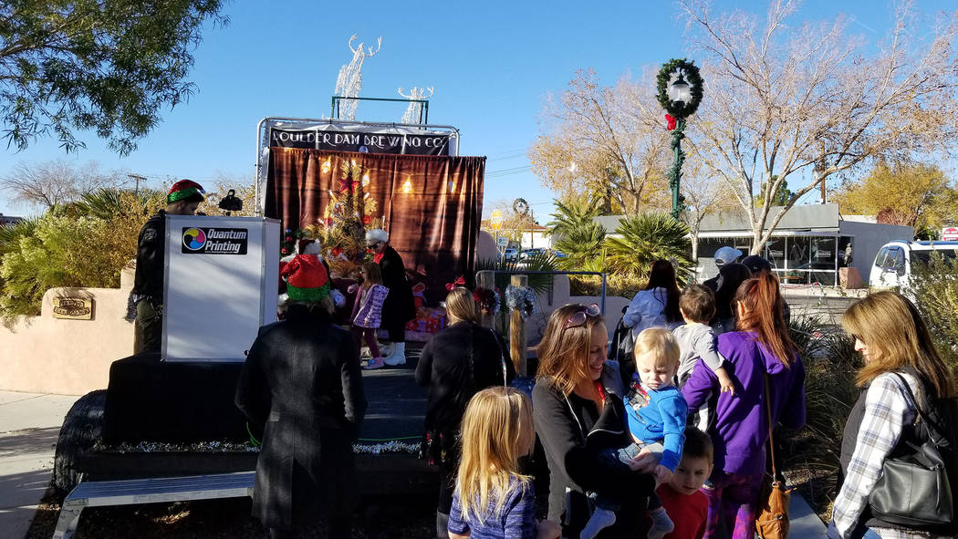 (Celia Shortt Goodyear/Boulder City Review) Christian Center Church held its first Pancake Breakfast with Santa on Saturday, Dec. 1. The event featured free food and a photo booth with Santa Claus ...