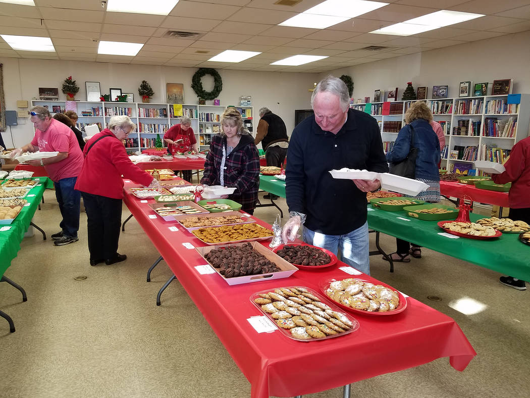 (Val Olsen/Boulder City Review) Faith Christian Church hosted its annual Christmas cookie sale Saturday, Dec. 1 allowing people to get a variety of holiday treats without baking.