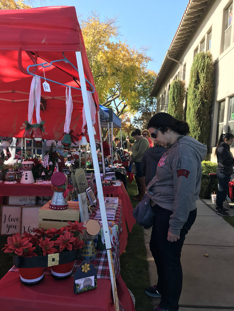 (Hali Bernstein Saylor/Boulder City Review) Boulder City Community Club presented the 44th annual Doodlebug Craft Bazaar featuring around 130 vendors Saturday, Dec. 1, 2018, at the Boulder City Re ...