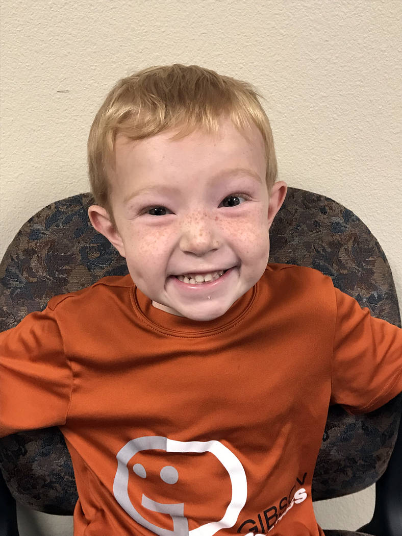 (Hali Bernstein Saylor/Boulder City Review) Quentin Somerhalder, 5, a kindergartner at Mitchell Elementary, said his favorite Christmas present as a blue, two-wheeled bicycle, which was fun to ride.