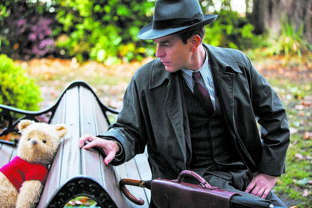 """Christopher Robin (Ewan McGregor) with his longtime friend Winnie the Pooh in Disney's """"Christopher Robin,"""" which will be shown at 10 a.m. Friday, Dec. 28, at Boulder City Library, 701 Adams Blvd."""