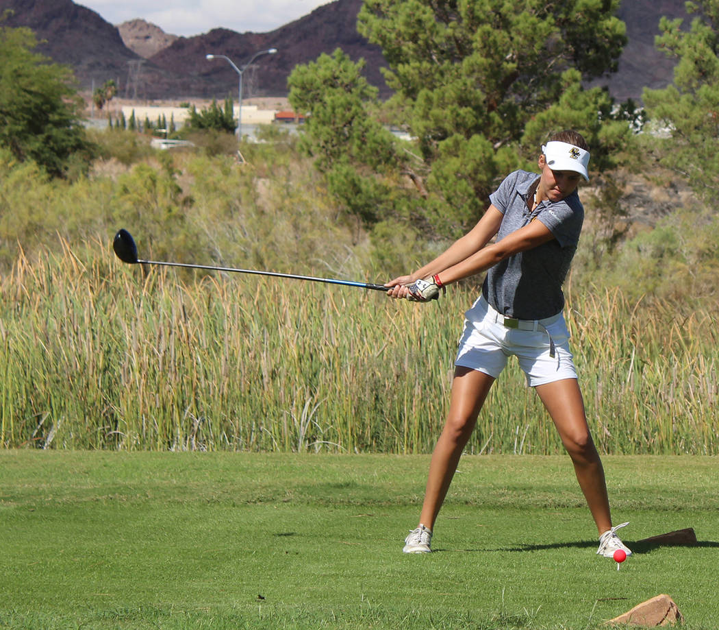 Boulder City High School senior Ryan Reese received an honorable mention Nevada all-state team nod for helping lead the Lady Eagles golf team to its second straight state title.
