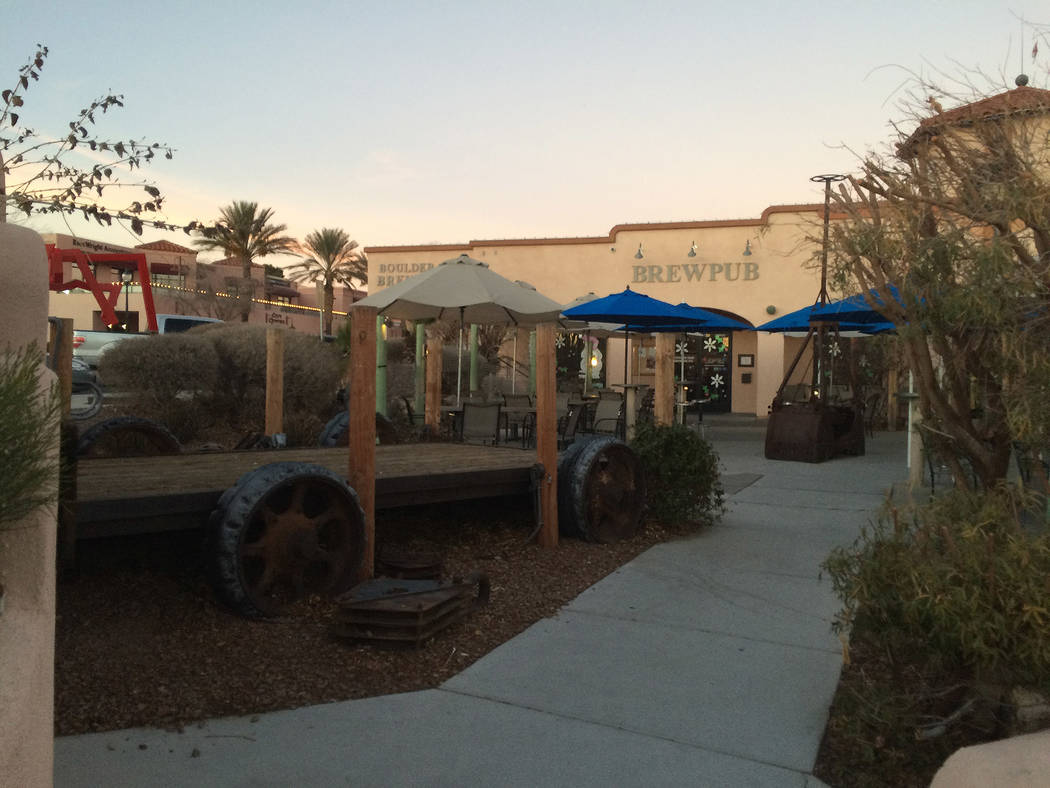 Hali Bernstein Saylor/Boulder City Review The outdoor stage in the beer garden at Boulder Dam Brewing Co. often hosts live bands. If passed, the brew pub would be subject to a new ordinance prohib ...