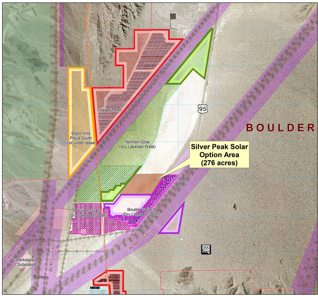 Boulder City City Council approved a lease option agreement with Silver Peak Solar LLC for almost 276 acres of land of the dry lake bed in the Eldorado Valley.