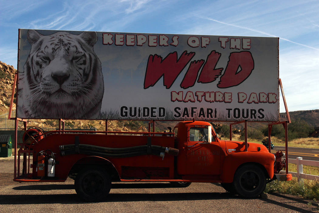 (Deborah Wall) Keepers of the Wild in Valentine, Arizona, provides refuge to more than 150 animals including tigers, lions, bears and primates. It is open daily except on Tuesdays for tours.