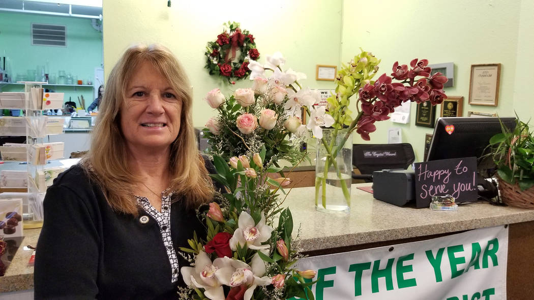 Celia Shortt Goodyear/Boulder City Review Kris Thompson, owner of Boulder City Florist, 1229 Arizona St., said her business has not been negatively impacted by the opening of Interstate 11.