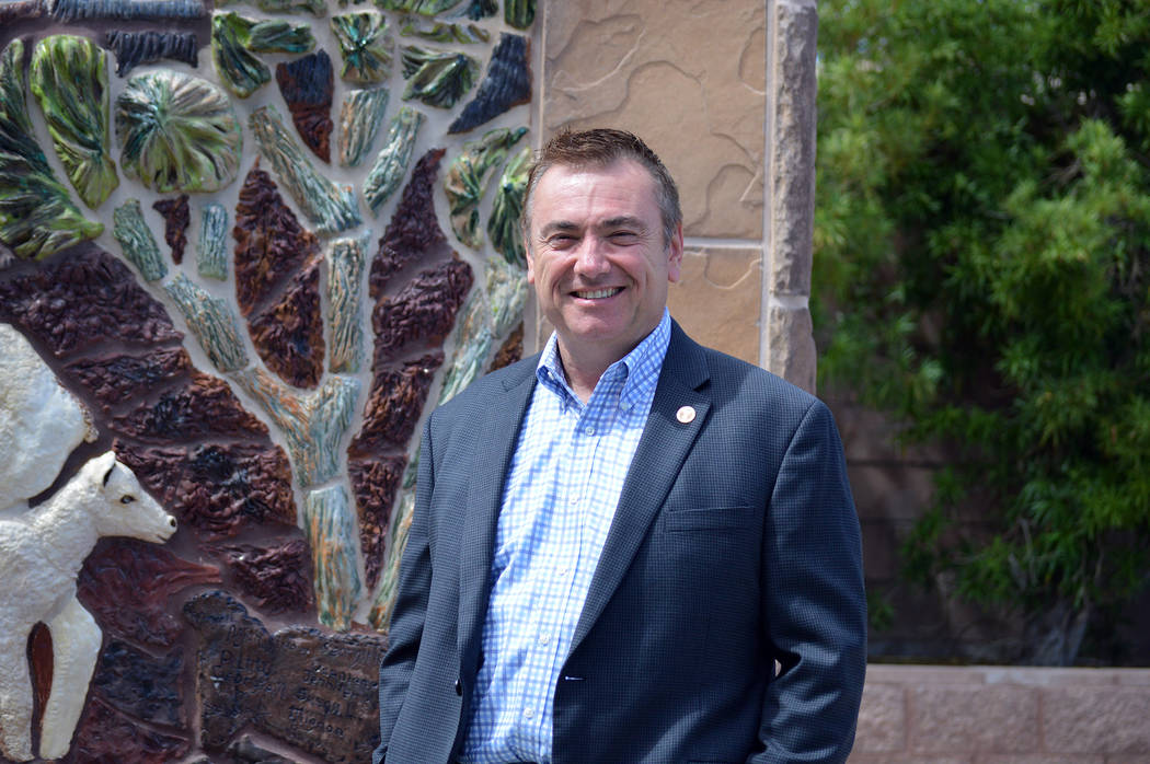 Celia Shortt Goodyear/Boulder City Review New City Manager Al Noyola is enjoying the community and getting to know the people in it. He's been on the job for almost three months.