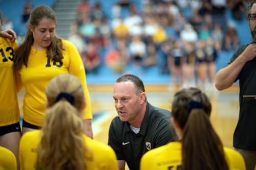 (Robert Vendettoli/Boulder City Review) Kurt Bailey, who led Boulder City High School's volleyball team to its second consecutive state championship in his first year as head coach, was named the ...