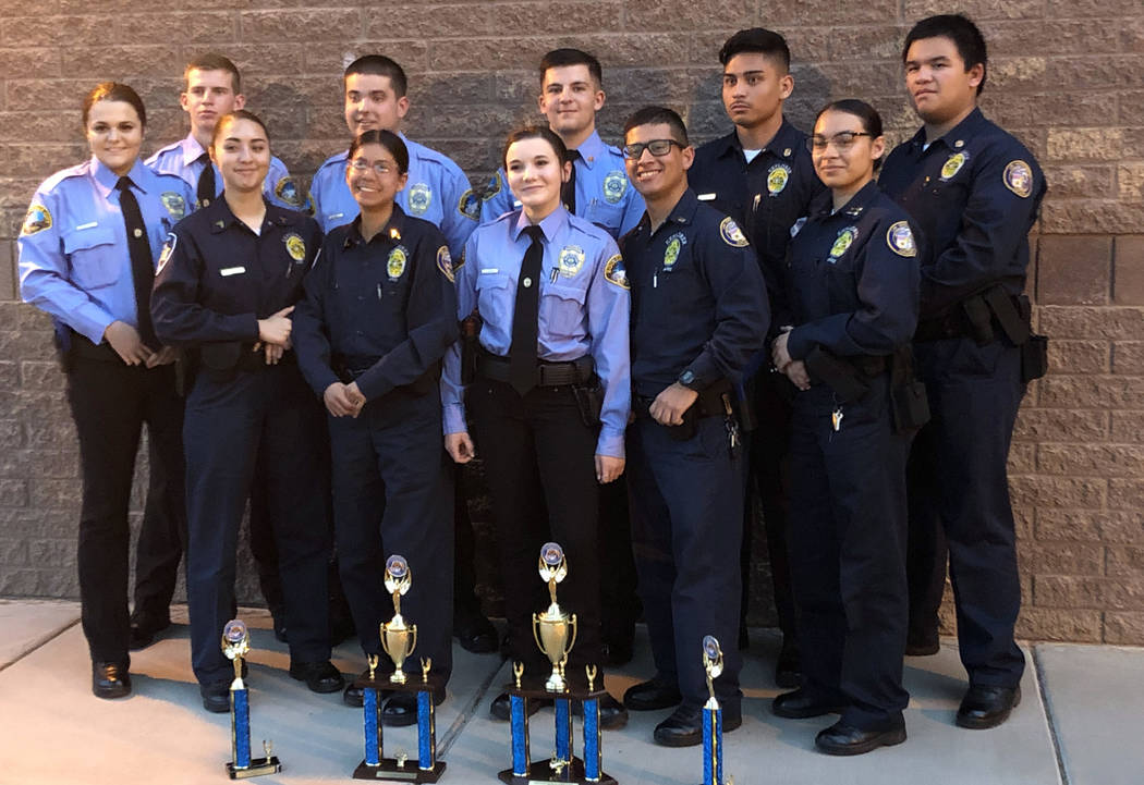 Craig Tomao Boulder City Explorer Post 198 and the city of Las Vegas Marshals Explorer Post teamed together and earned four awards at the recent tactical competition in Chandler, Arizona.