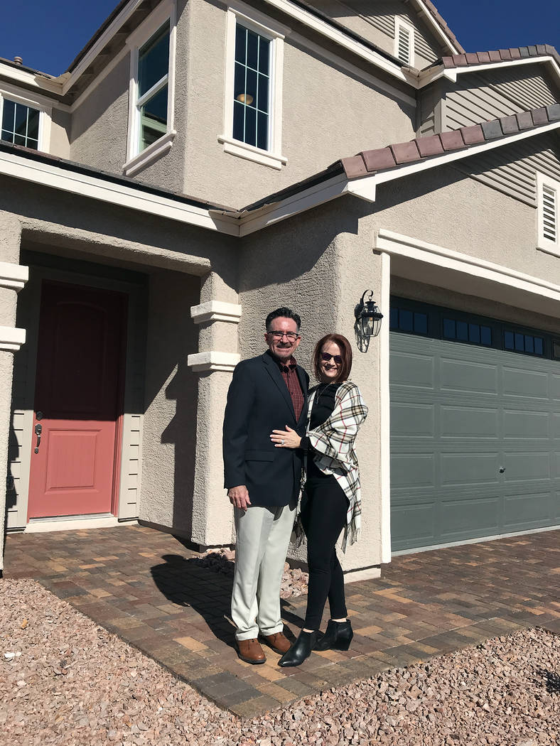 (Hali Bernstein Saylor/Boulder City Review) Wayne and Catherine Laska, principals of Storybook Homes, were on hand to help show area officials and real estate professionals the new model homes at ...