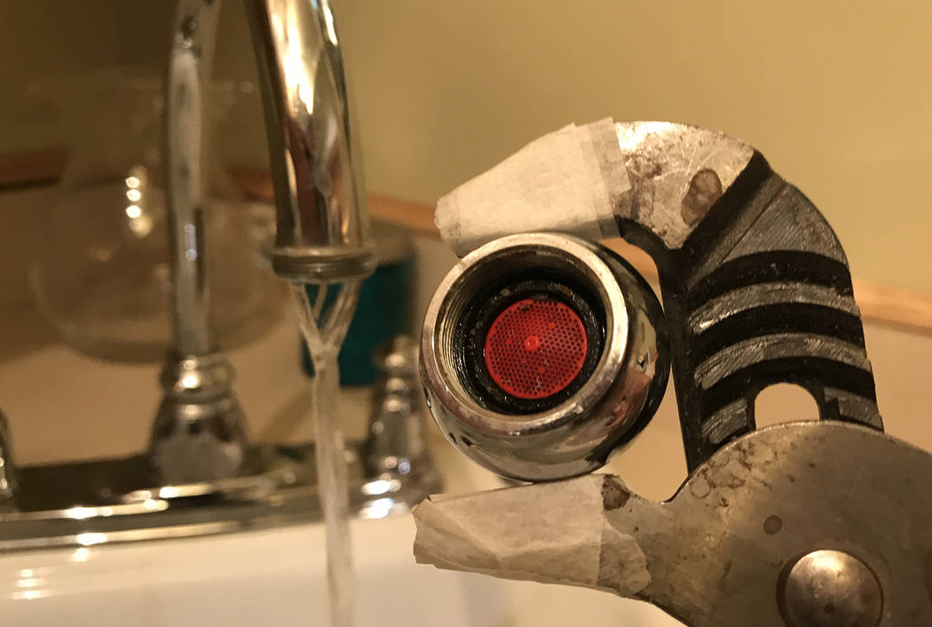 (Norma Vally) A clogged aerator is often the source of poor water pressure in your faucet.