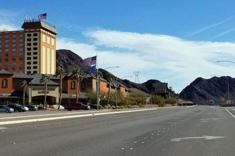 (Celia Shortt Goodyear/Boulder City Review) Hoover Dam Lodge, 8000 Highway 93, is building a gas station and 7,000 square foot general store on its property.
