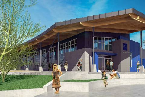 (LGA) This rendering shows the visitor center that is part of the proposed expansion of the Nevada State Railroad Museum, 601 Yucca St.