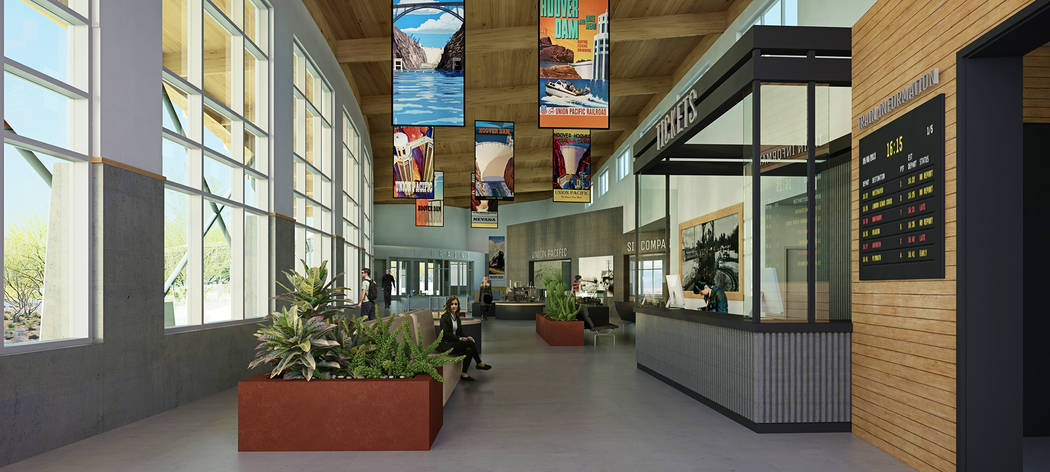 (LGA) This rendering shows the interior of the visitor that is part of the proposed expansion of the Nevada State Railroad Museum, 601 Yucca St.