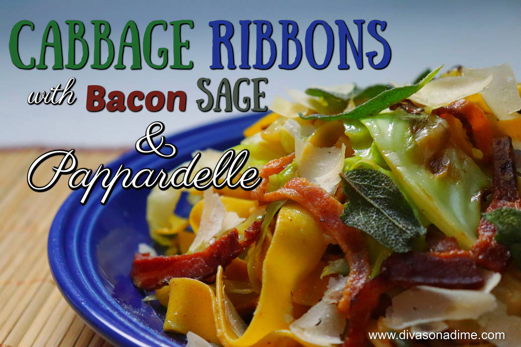 (Patti Diamond) Combining ribbons of cabbage with bacon and pasta let you take advantage of the versatile and inexpensive vegetable.