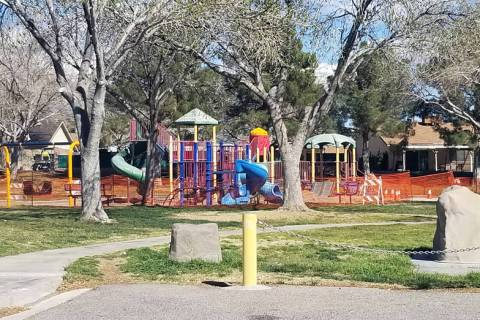 (Celia Shortt Goodyear/Boulder City Review) Oasis Park, 1419 Marita Drive, is getting $30,000 worth of upgrades that should be finished in April.