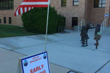 Early voting for the upcoming Clark County election including the Boulder City primary begins Saturday, March 16, and continues until Friday, March 29.