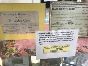 (Hali Bernstein Saylor/Boulder City Review) In honor of March's Women's History Month observance, the Daughters of the American Revolution, Silver State Chapter, have created a display showcasing ...