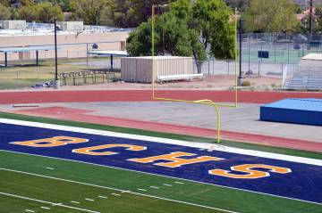 Boulder City High School recently received a grant from My LVTV and Thursday Night Lights for hosting a televised game on its brand-new, state-of-the-art football field.