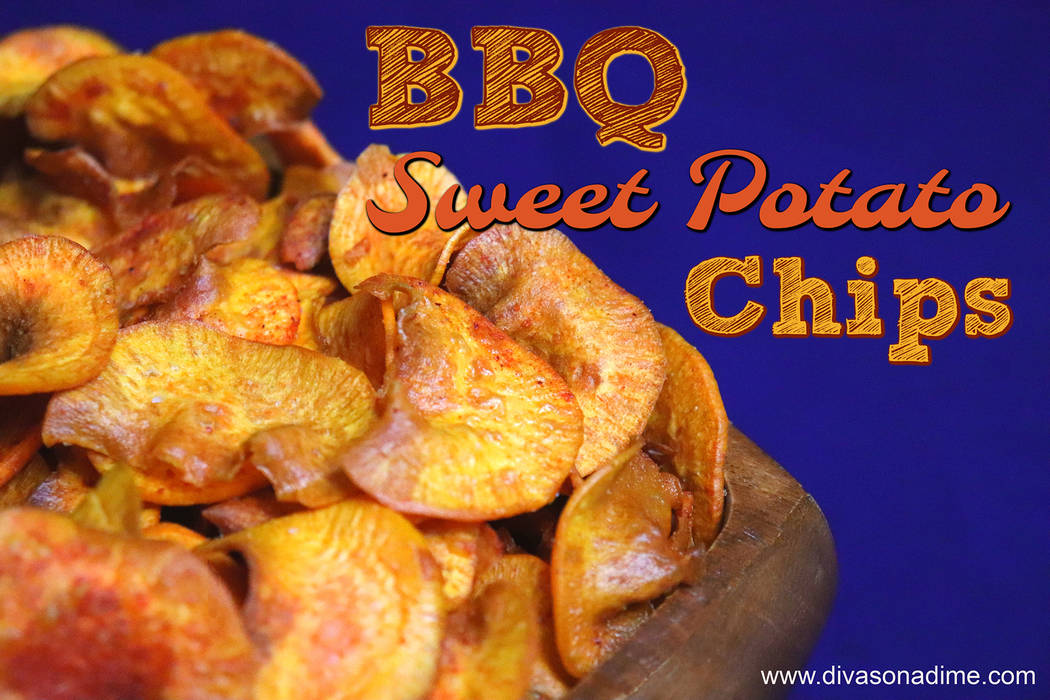 (Patti Diamond) Homemade sweet potato chips, topped with a barbecue seasoning, packs in flavor and scores big with game watchers.