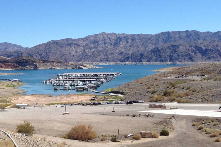 The marina at Callville Bay is undergoing a renovation to accommodate lower water levels and a floating fuel farm.