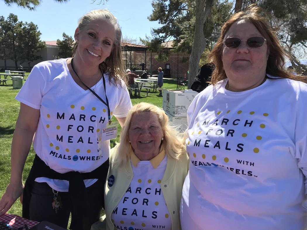 (Hali Bernstein Saylor/Boulder City Review) Victoria Mason, from left, executive director; Darlene Looney, board member; and Melinda Reddin, kitchen manager, of the Senior Center of Boulder City w ...