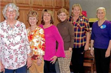 (P.E.O. Chapter AF) P.E.O., Chapter AF, recently installed new officers for the philanthropic e ...