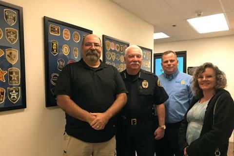 (Hali Bernstein Saylor/Boulder City Review) Friends of the Boulder City Police Department recen ...