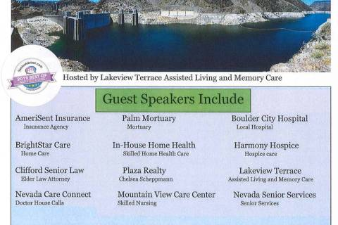 Lakeview Terrace Assisted Living and Memory Care is holding the Best Dam Senior Healthcare Foru ...