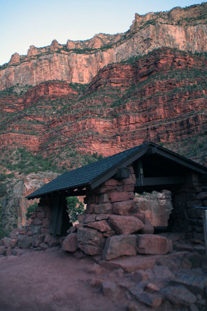 (Deborah Wall) There are three resthouses for hikers along the Bright Angel Trail, constructed ...