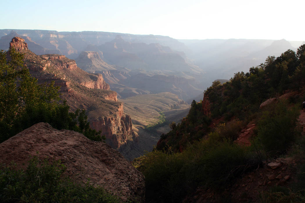 (Deborah Wall) The Bright Angel Trail offers good views of of the canyon in Grand Canyon Nation ...