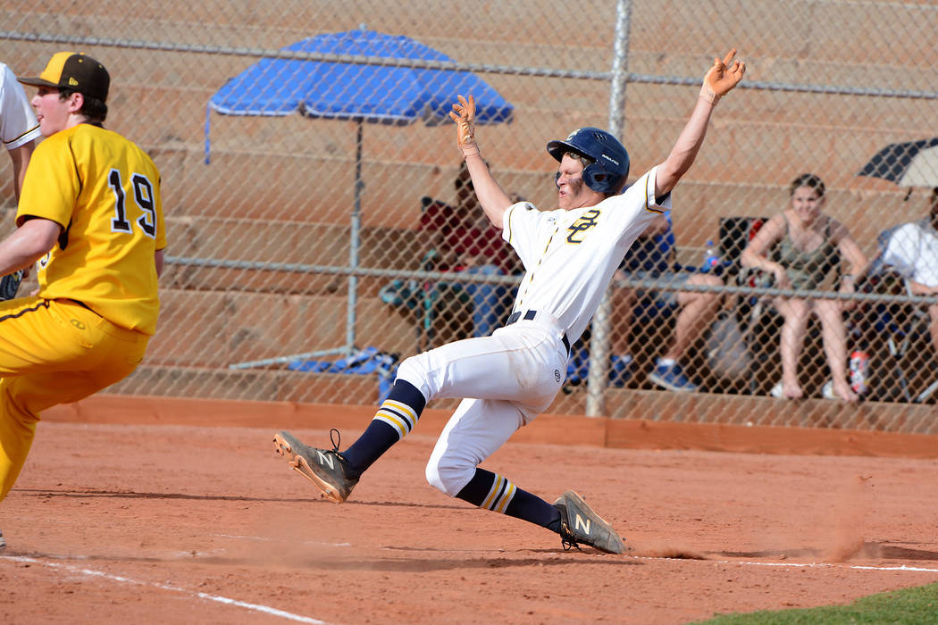 (Robert Vendettoli/Boulder City Review) Breaking a 2-2 tie in the bottom of the second inning, ...